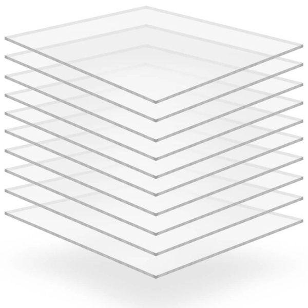 Acrylplaten 400x600x2 mm transparant 10 st