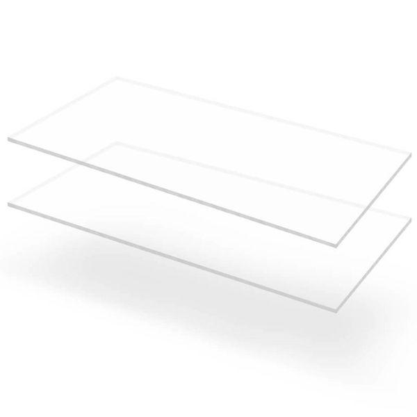 Acrylplaten 600x1200x10 mm transparant 2 st