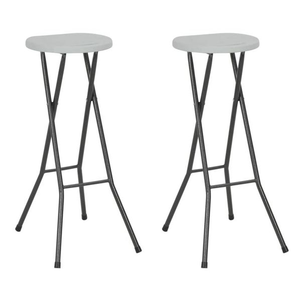Barstoelen inklapbaar 35x44x80 cm HDPE wit 2 st