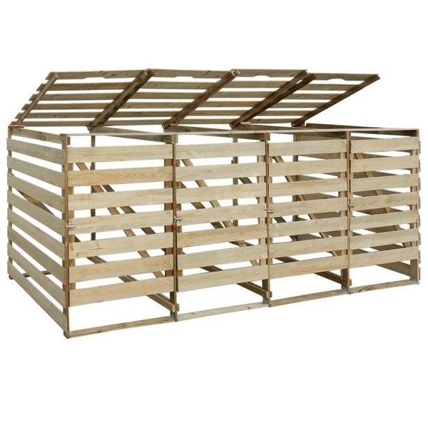 Containerberging vierdubbel 240 L FSC geïmpregneerd grenenhout