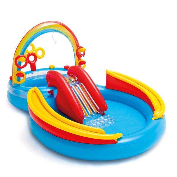 Opblaaszwembad Rainbow Ring Play Center 297x193x135 cm 57453NP