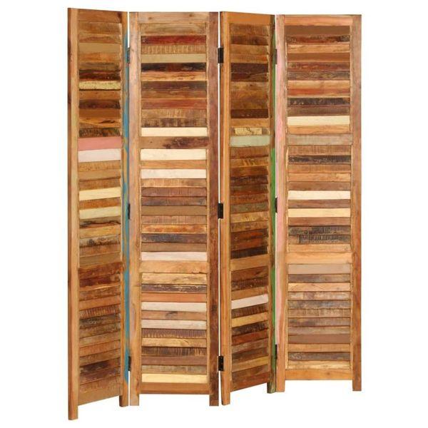 Kamerverdeler 170 cm massief gerecycled hout