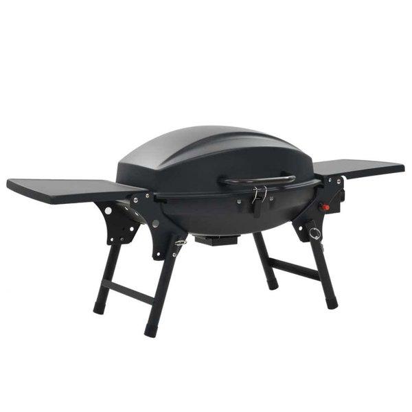 Gasbarbecue met kookzone zwart