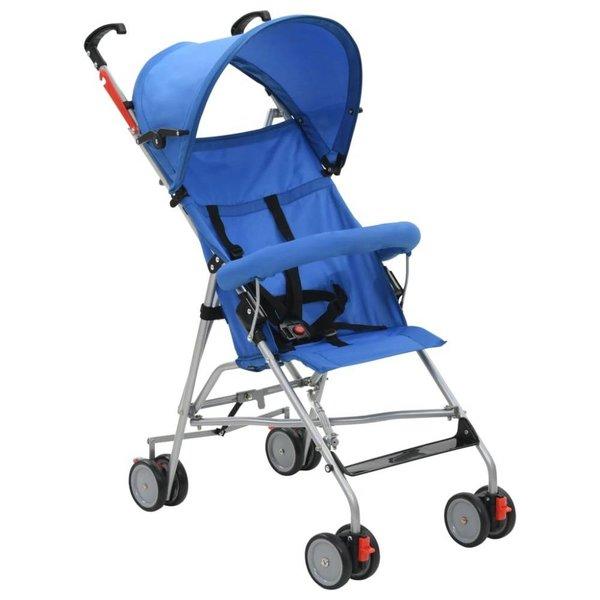 Kinderwagen inklapbaar staal blauw