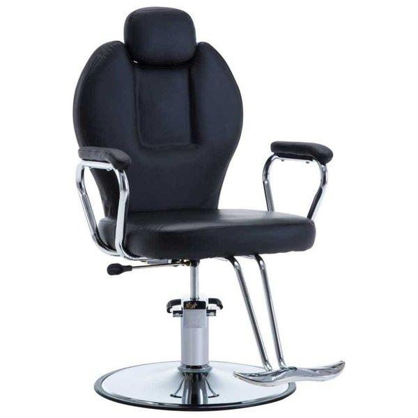 Kappersstoel kunstleer zwart