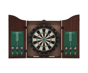 Dartbord In Kast : Vidaxl dartbord professioneel met kast en darts sisal