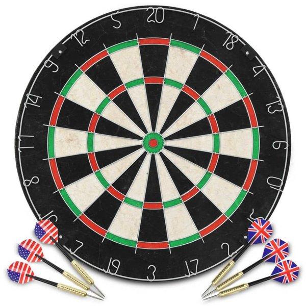 Dartbord professioneel met 6 darts sisal