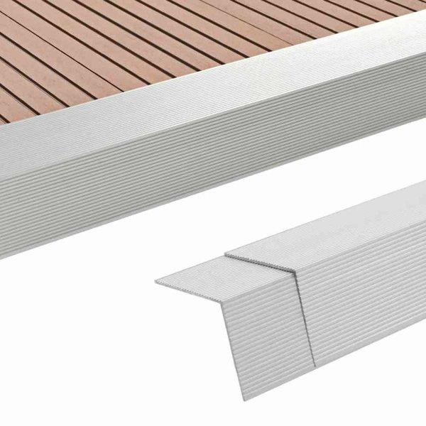 5 st Terras hoekplinten 170 cm aluminium zilverkleurig
