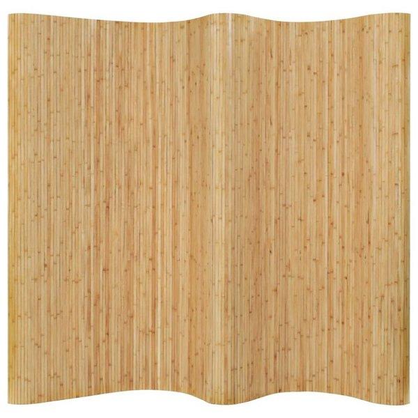 Kamerverdeler 250x195 cm bamboe natuurlijk
