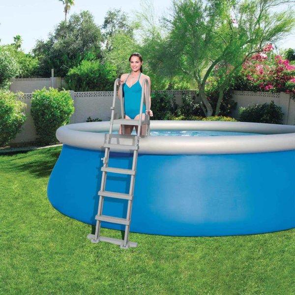 Zwembadladder met stalen frame 58332