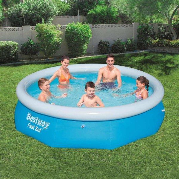 Fast Set zwembad rond opblaasbaar 305x76 cm 57266