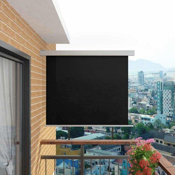 Balkon zijluifel multifunctioneel 150x200 cm zwart