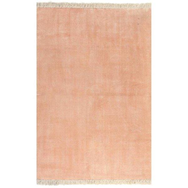 Kelim vloerkleed 160x230 cm katoen roze