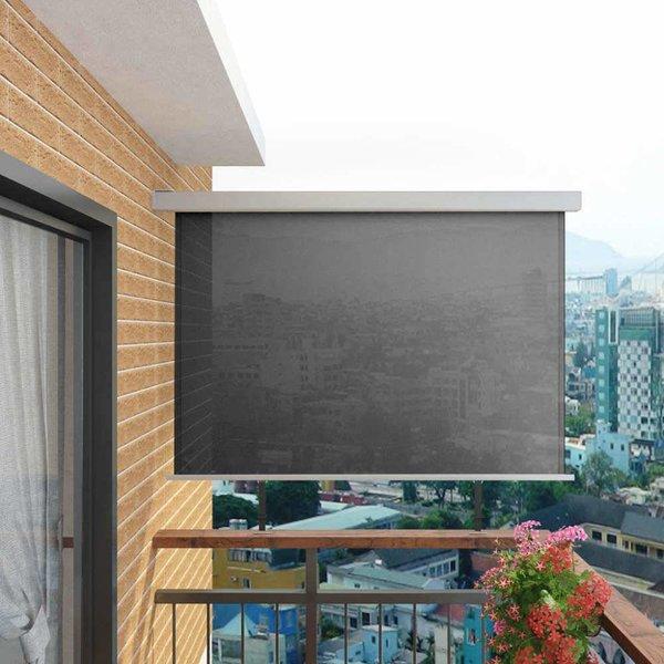 Balkon zijluifel multifunctioneel 180x200 cm grijs