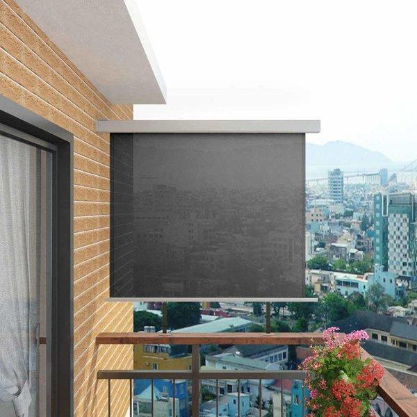 Balkon zijluifel multifunctioneel 150x200 cm grijs
