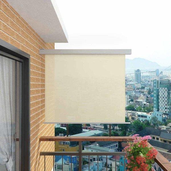 Balkon zijluifel multifunctioneel 150x200 cm crème