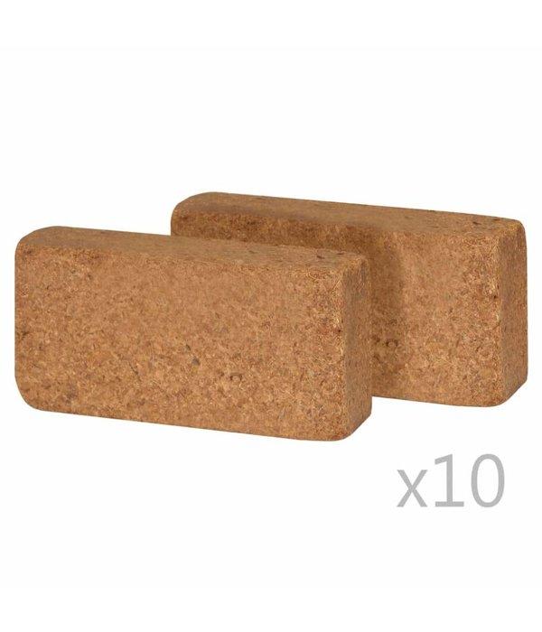 vidaXL Kokosvezelblokken 650 g 20x10x4 cm 20 st