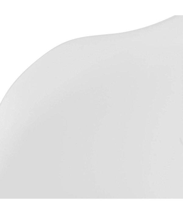 vidaXL Eetkamerstoelen beukenhouten poten wit 4 st