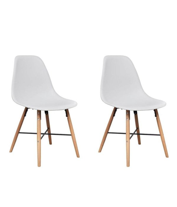 vidaXL Eetkamerset met 1 vierkante tafel en 2 stoelen (wit)