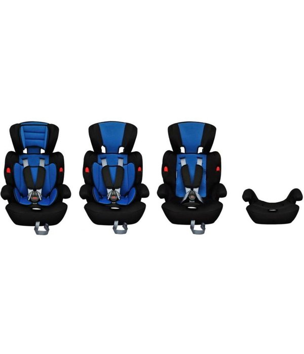 vidaXL Kinderautostoeltje met gordel blauw en zwart