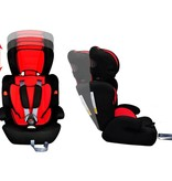 vidaXL Autostoeltje voor kinderen rood/zwart