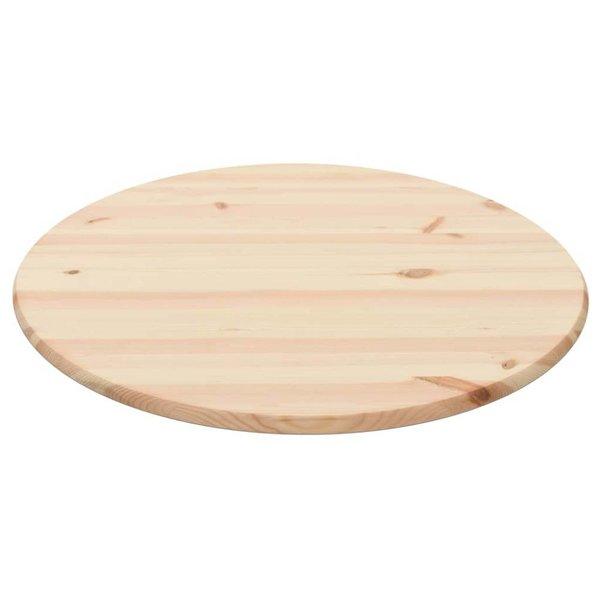 Tafelblad rond 28 mm 90 cm natuurlijk grenenhout