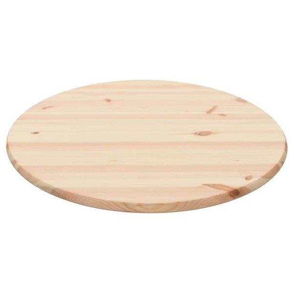 Tafelblad rond 28 mm 80 cm natuurlijk grenenhout