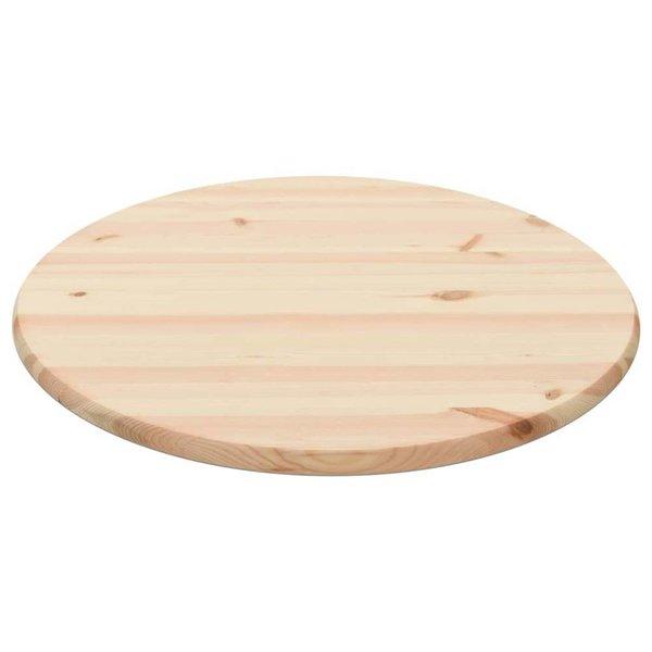 Tafelblad rond 28 mm 70 cm natuurlijk grenenhout