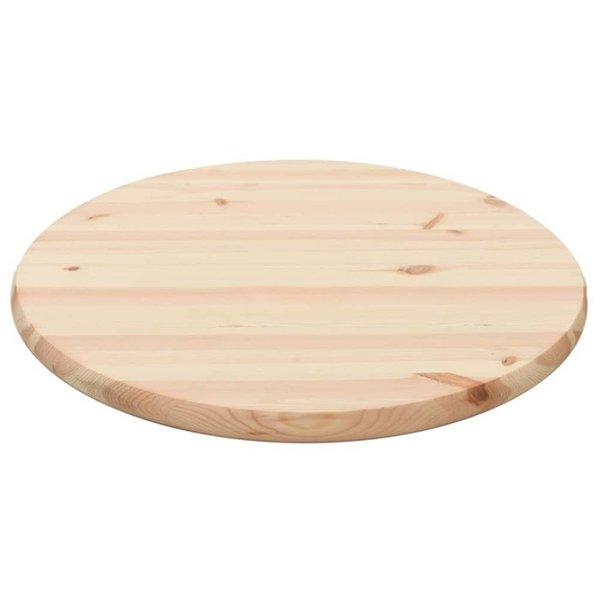 Tafelblad rond 28 mm 60 cm natuurlijk grenenhout