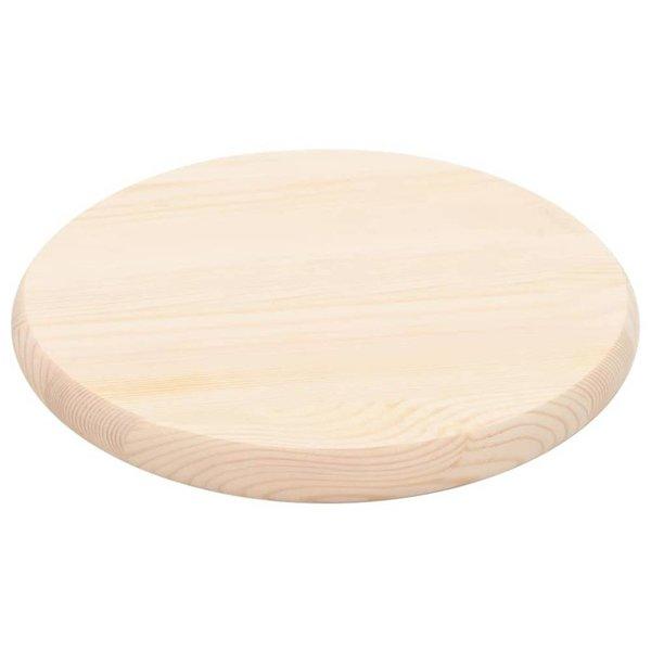Tafelblad rond 28 mm 30 cm natuurlijk grenenhout