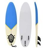 vidaXL Surfboard 170 cm blauw en crème