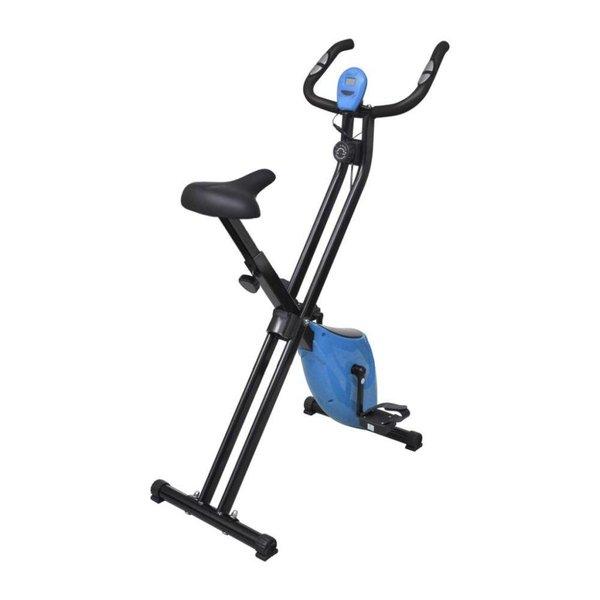 Vouwbare hometrainer Xbike 2,5 kg (zwart/blauw)