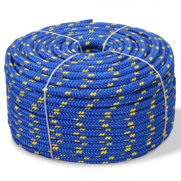 Boot touw 14 mm 250 m polypropyleen blauw