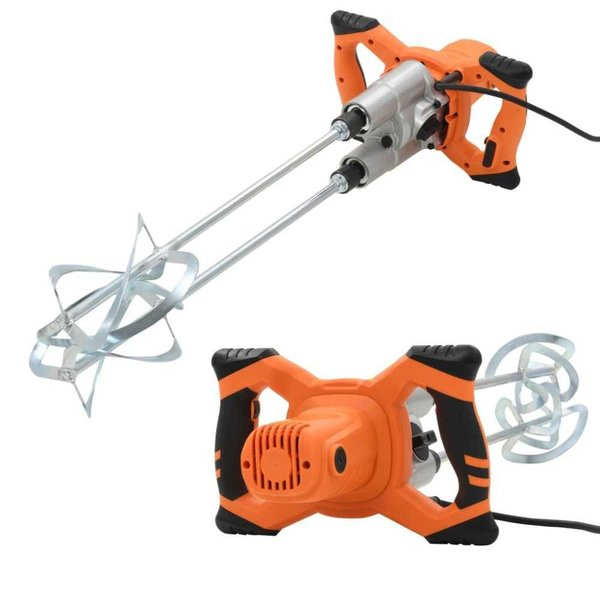 Betonmixer elektrisch handmatig dubbele snelheden 1600 W