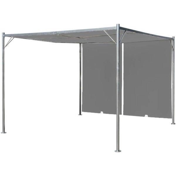 Pergola met intrekbaar dak 300x300x225 cm antraciet