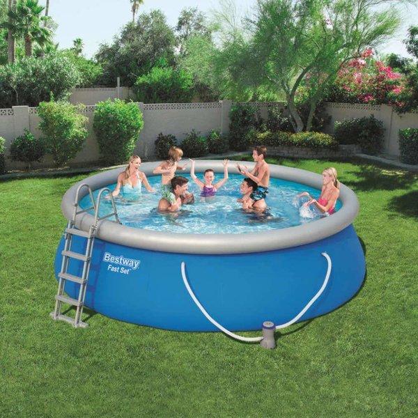 Fast Set Zwembadset opblaasbaar rond 457x112 cm 57289
