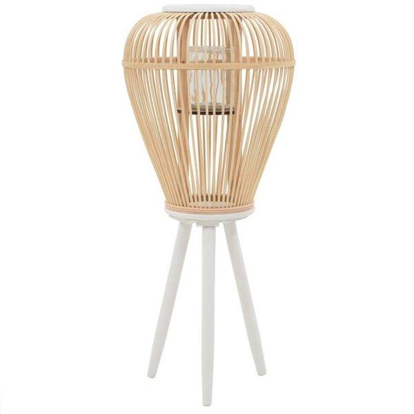 Lantaarnhouder vrijstaand bamboe naturel
