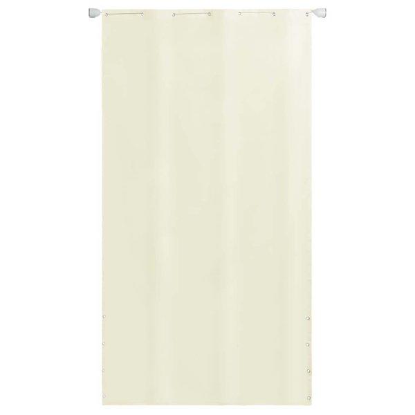 Balkonscherm 140x240 cm oxford stof crème
