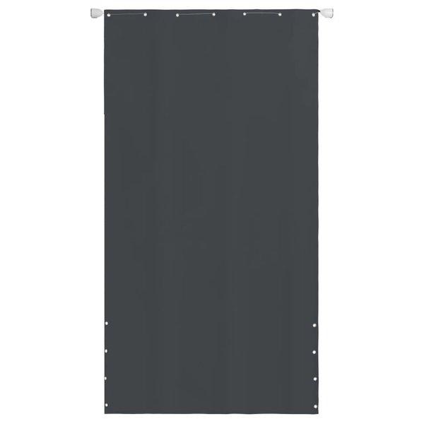Balkonscherm 140x240 cm oxford stof grijs