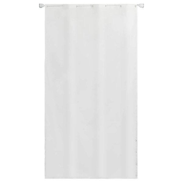 Balkonscherm 140x240 cm oxford stof wit