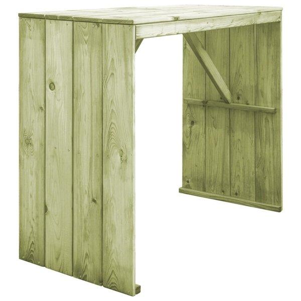Bartafel 130x60x110 cm FSC geïmpregneerd grenenhout