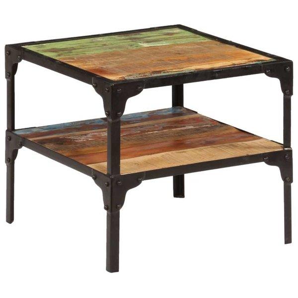 Bijzettafel 45x45x40 cm massief gerecycled hout