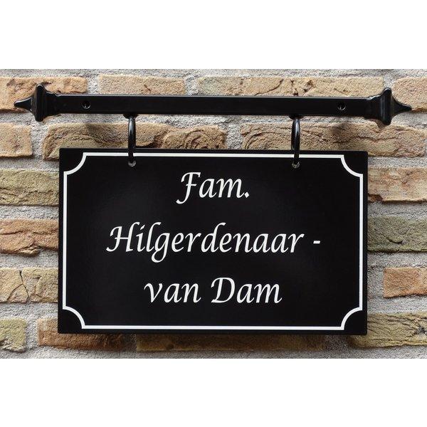 Model Haarlem Groot. Naambord met frame, handgeschilderd.