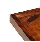 vidaXL Dienblad 50x50 cm massief sheeshamhout
