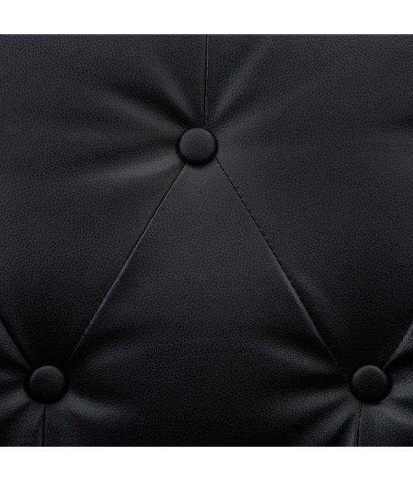 vidaXL Bankstel 3-delig kunstleren bekleding zwart
