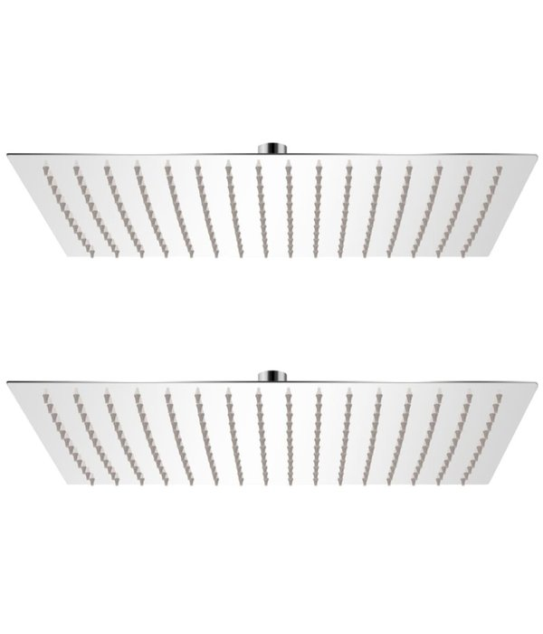 vidaXL Regendouchekoppen 2 st 30x40 cm roestvrij staal