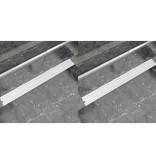 vidaXL Doucheafvoer 2 st rechthoekig bubbel 1030x140mm roestvrij staal