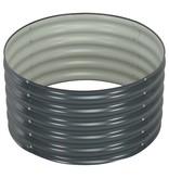 vidaXL Plantenbak 80x80x44 cm gegalvaniseerd staal grijs