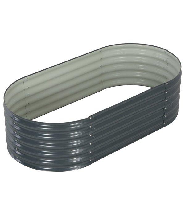 vidaXL Plantenbak 160x80x44 cm gegalvaniseerd staal grijs