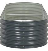 vidaXL Plantenbak 240x80x44 cm gegalvaniseerd staal grijs